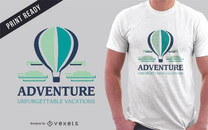Diseño de camiseta de aventura de viaje