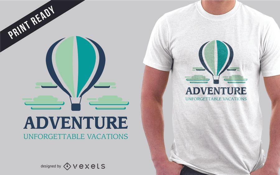 Diseño de camiseta de aventura de viaje.