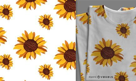 Cute seamless sunflower pattern