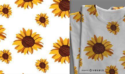 Nettes nahtloses Sonnenblumenmuster