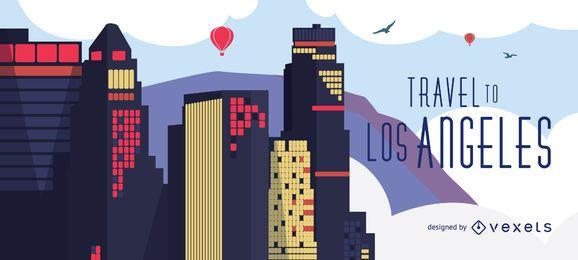 Fahren Sie zur Skyline von Los Angeles