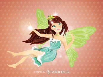 Ilustração de fada voadora
