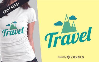 Design de t-shirt de mercadorias de viagem