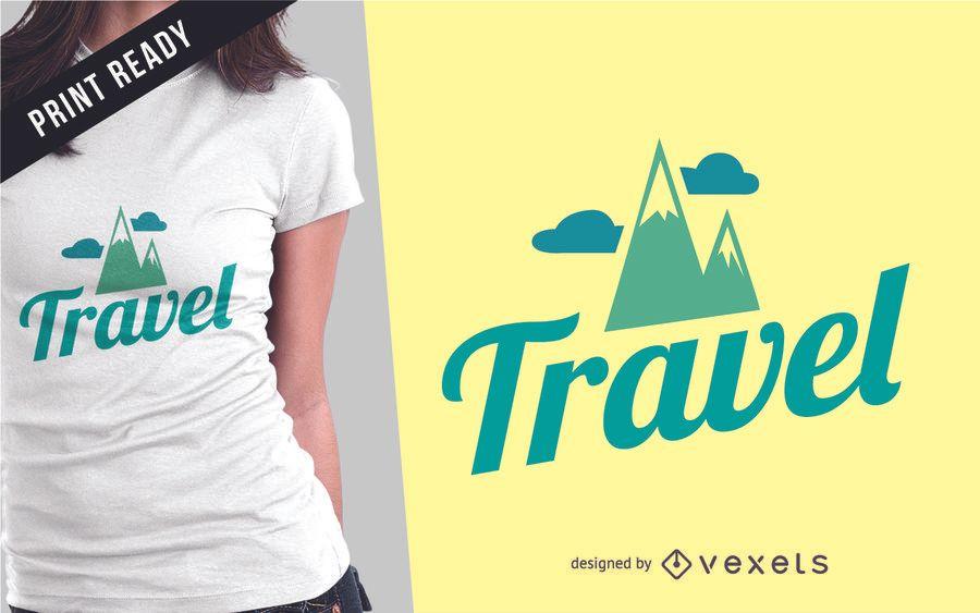 Diseño de camiseta de mercancía de viaje.
