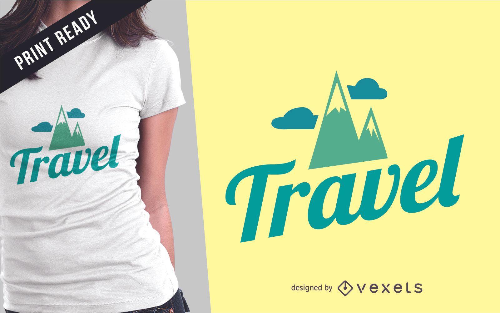 Dise?o de camiseta de mercanc?a de viaje.