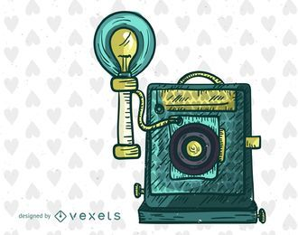 Antique camera illustration