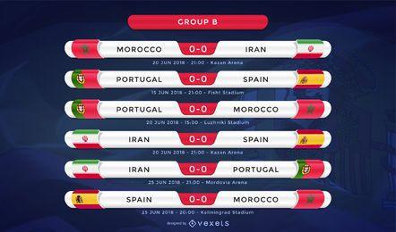 Rússia 2018 Grupo B fixture