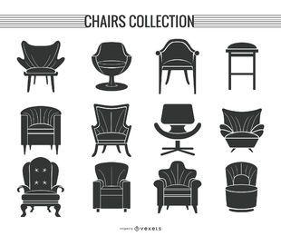 Stuhl- und Sofaschattenbildsatz