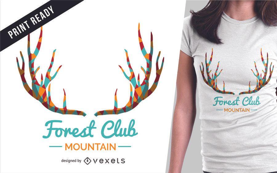 Deer and lettering t-shirt design