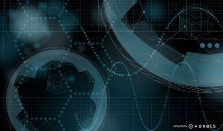 Abstraktes futuristisches Hintergrunddesign