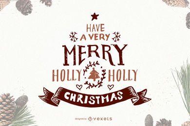 Letras de Navidad de invierno