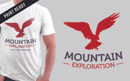Projeto de camiseta de exploração de montanha