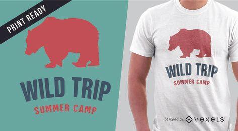 Diseño de camiseta de verano para mercancía