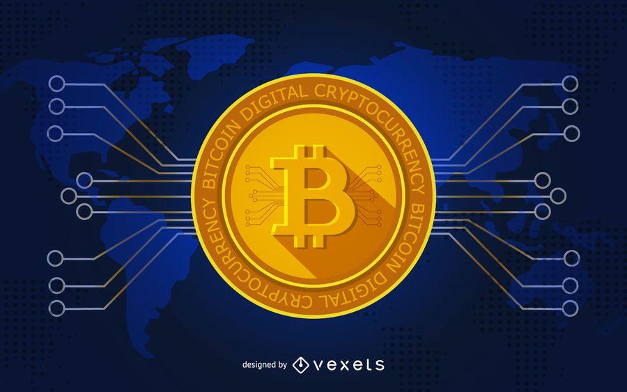Bitcoin illustration for header