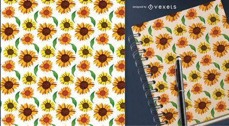 Land Sonnenblumen nahtloses Muster