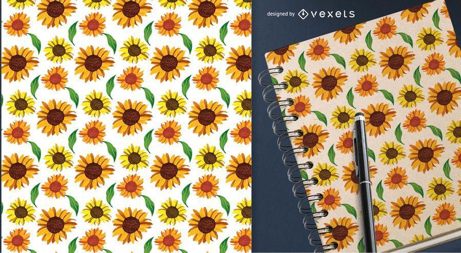 Nahtloses Muster der Landsonnenblumen