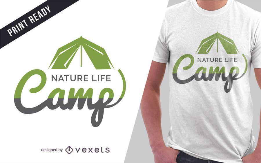 72b515d5 Camping t-shirt design - Vector download