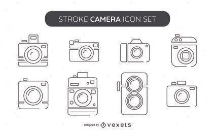 Gran colección de iconos de cámara