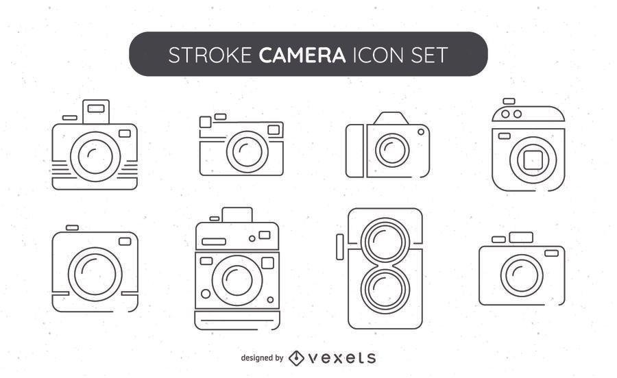 Grande coleção de ícones de câmera