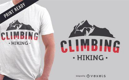 Diseño de camiseta de montañas de escalada