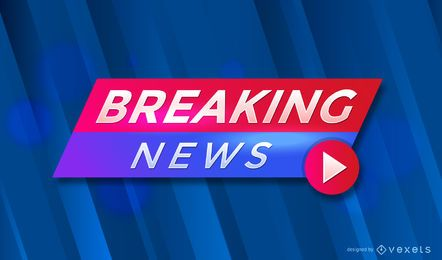 Breaking News header design