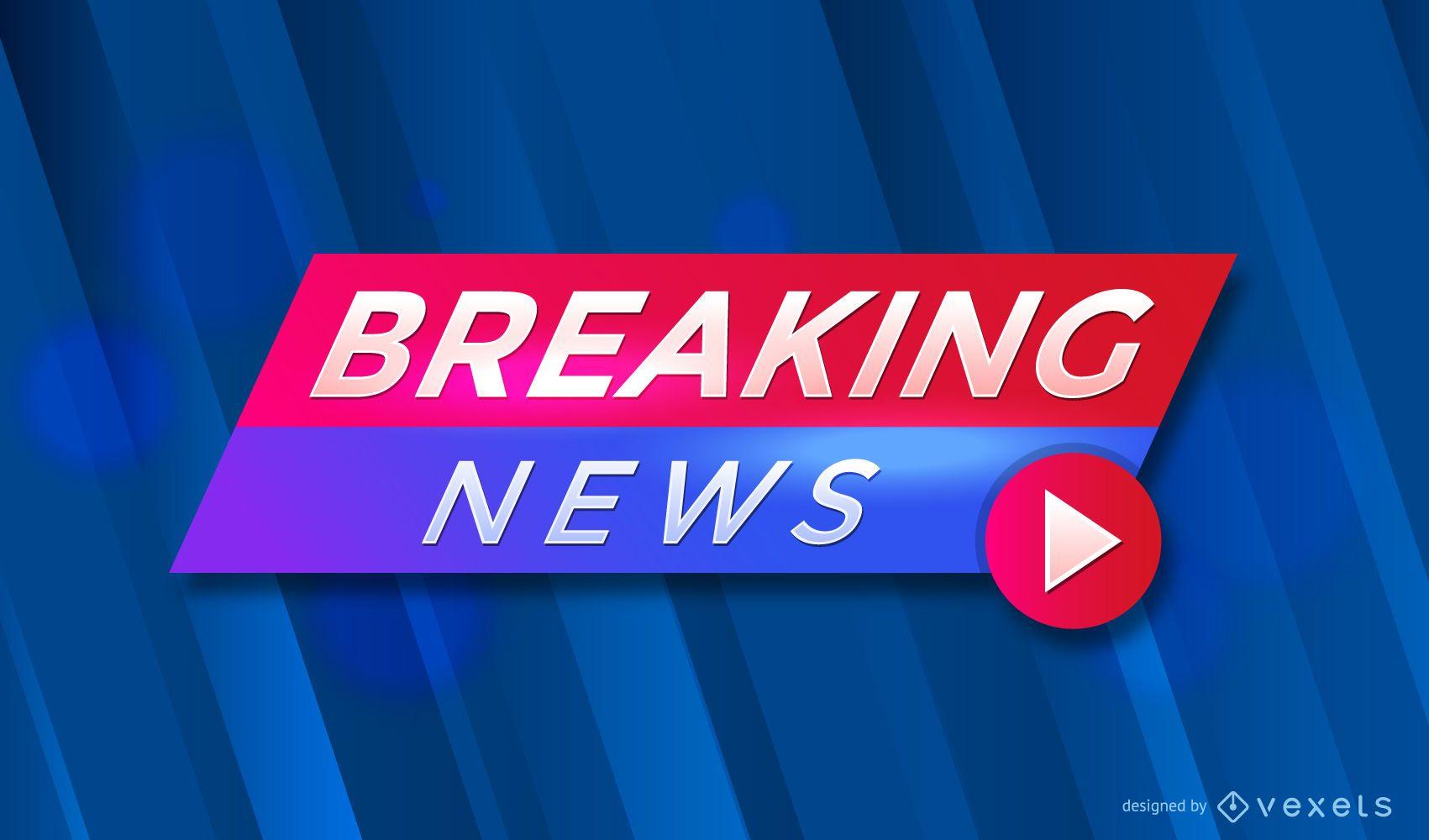 Design do cabeçalho do Breaking News