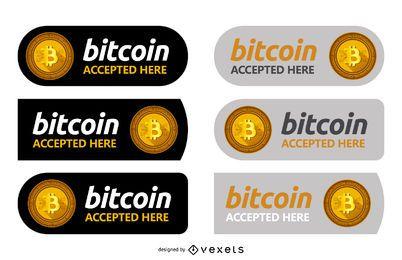 Conjunto de etiquetas Bitcoin