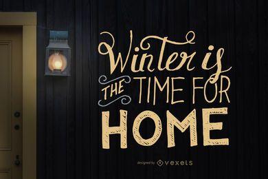 Diseño de letras manuscritas de invierno