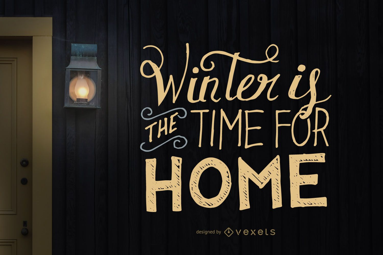 Handwritten winter lettering design