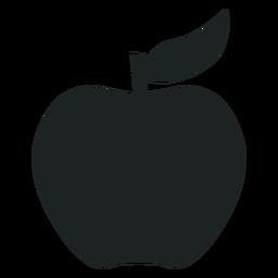Ícone de silhueta de maçã