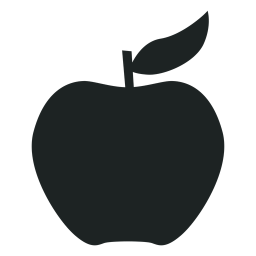 Apple silhouette icon Transparent PNG