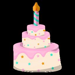 Pastel de cumpleaños ilustración postre