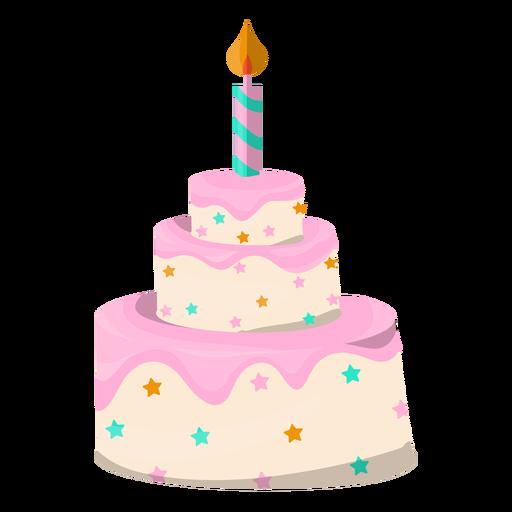 Postre de ilustración de pastel de cumpleaños