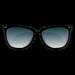 Gafas de sol con marco negro.