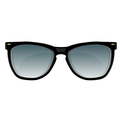 Black frame wayfarer sunglasses Transparent PNG