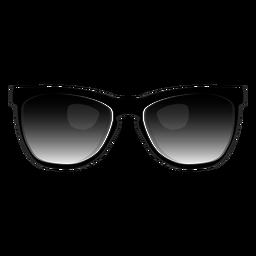 Schwarze Wayfarer-Sonnenbrille