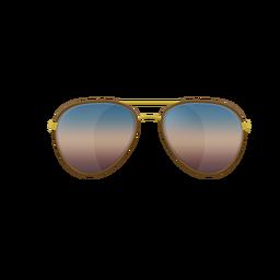 Gafas de sol azul aviador