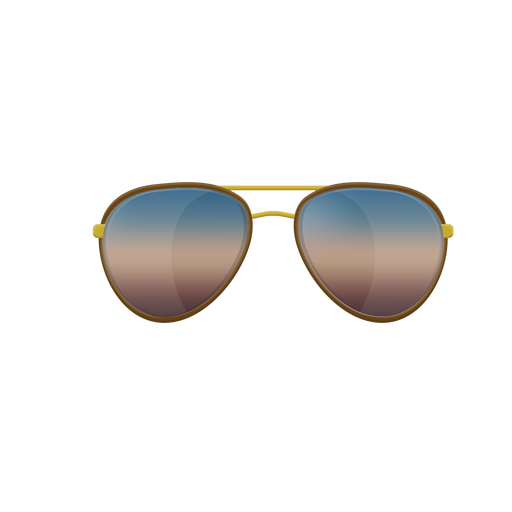 Blue aviator sunglasses Transparent PNG