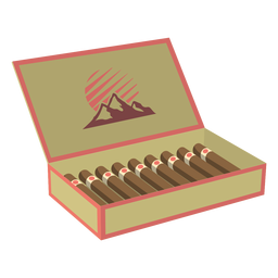 Box of cigars illustration