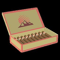 Caixa de ilustração de charutos