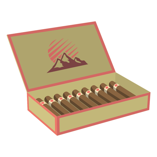 Box of cigars illustration png