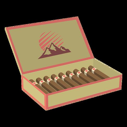 Caixa de ilustração de charutos Transparent PNG