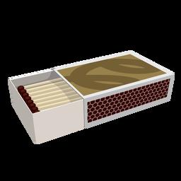Ilustração da caixa de fósforos