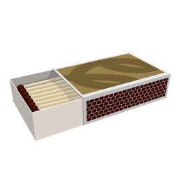 Ilustración de la caja de fósforos