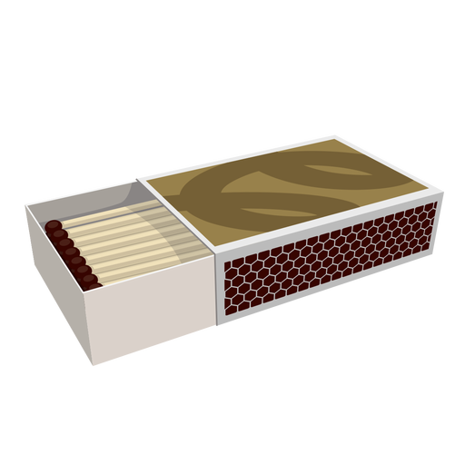 Box of matches illustration Transparent PNG