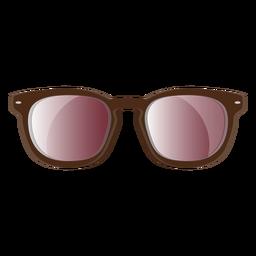 Óculos de sol wayfarer moldura marrom