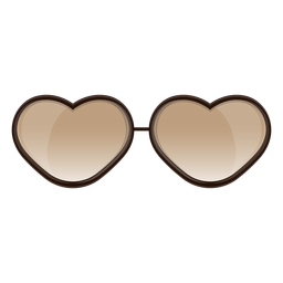 Óculos de sol de coração castanho