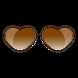 Gafas de sol marrones de corazón