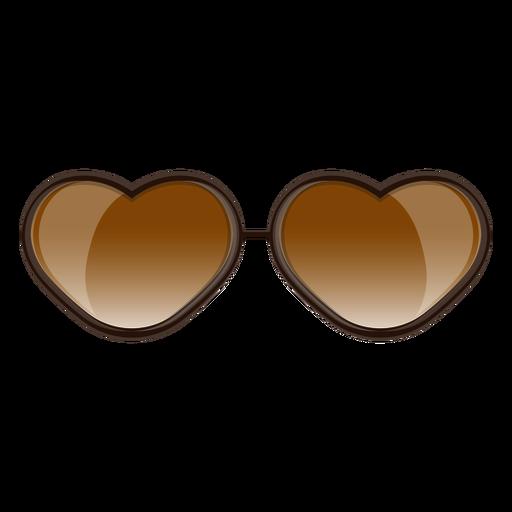 Óculos de sol de coração marrom - Baixar PNG SVG Transparente db8873ceee