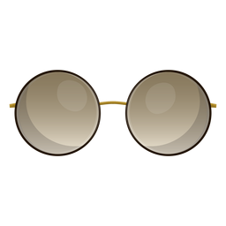 Óculos de sol redondos e castanhos